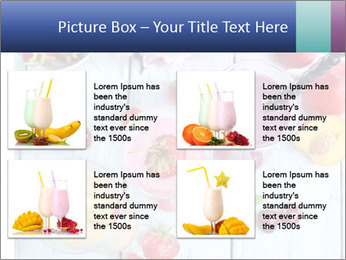 Delicious smoothie on table PowerPoint Template - Slide 14