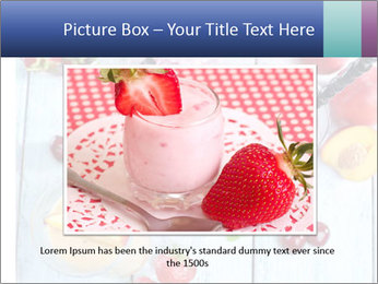 Delicious smoothie on table PowerPoint Template - Slide 16