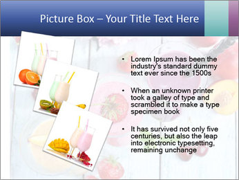 Delicious smoothie on table PowerPoint Template - Slide 17