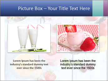 Delicious smoothie on table PowerPoint Template - Slide 18
