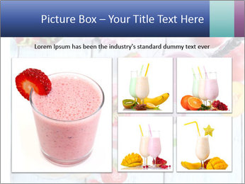 Delicious smoothie on table PowerPoint Template - Slide 19