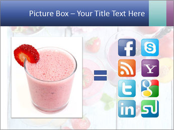 Delicious smoothie on table PowerPoint Template - Slide 21