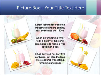 Delicious smoothie on table PowerPoint Template - Slide 24