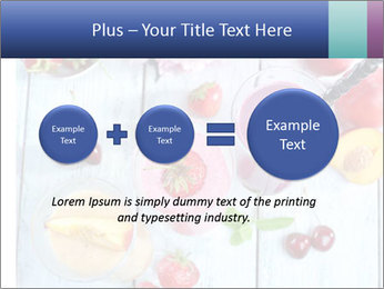 Delicious smoothie on table PowerPoint Template - Slide 75