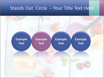 Delicious smoothie on table PowerPoint Template - Slide 76