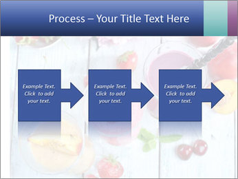 Delicious smoothie on table PowerPoint Template - Slide 88