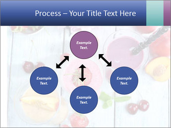 Delicious smoothie on table PowerPoint Template - Slide 91