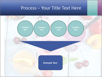 Delicious smoothie on table PowerPoint Template - Slide 93