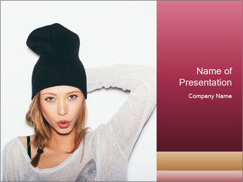 Young beautiful woman PowerPoint Template