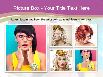 Colorful summer portrait of young attractive brunette woman PowerPoint Template - Slide 19