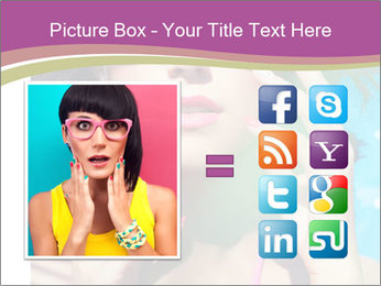 Colorful summer portrait of young attractive brunette woman PowerPoint Template - Slide 21