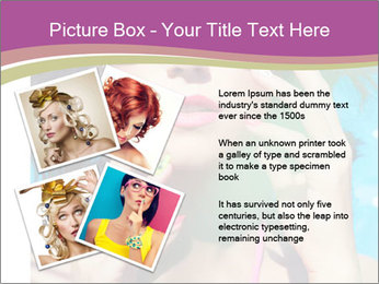 Colorful summer portrait of young attractive brunette woman PowerPoint Template - Slide 23