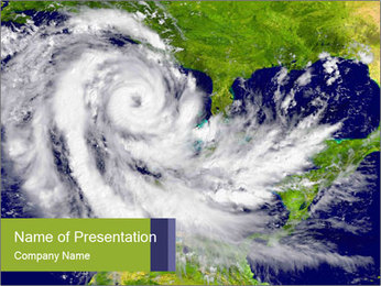 Huge hurricane PowerPoint Template - Slide 1