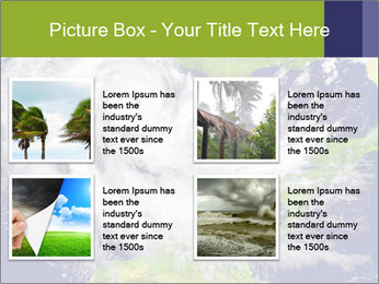 Huge hurricane PowerPoint Template - Slide 14