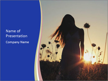 A pretty woman enjoying summer PowerPoint Template - Slide 1