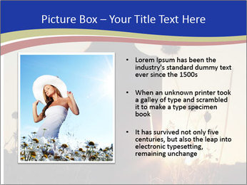 A pretty woman enjoying summer PowerPoint Templates - Slide 13