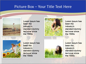 A pretty woman enjoying summer PowerPoint Template - Slide 14