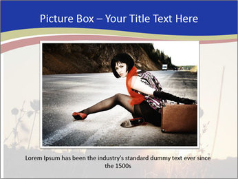 A pretty woman enjoying summer PowerPoint Template - Slide 15