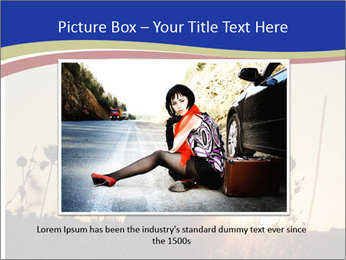 A pretty woman enjoying summer PowerPoint Template - Slide 16