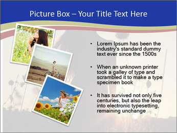 A pretty woman enjoying summer PowerPoint Template - Slide 17
