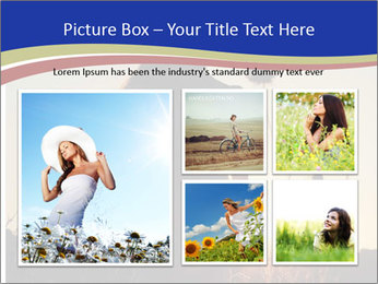 A pretty woman enjoying summer PowerPoint Template - Slide 19