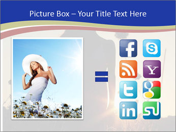A pretty woman enjoying summer PowerPoint Template - Slide 21