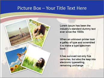 A pretty woman enjoying summer PowerPoint Template - Slide 23
