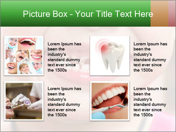 Kid patient open mouth showing caries teeth decay PowerPoint Template - Slide 14