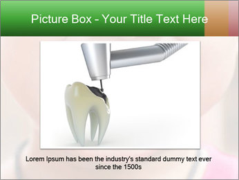 Kid patient open mouth showing caries teeth decay PowerPoint Template - Slide 16