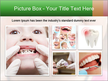 Kid patient open mouth showing caries teeth decay PowerPoint Template - Slide 19