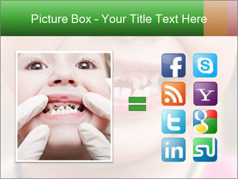 Kid patient open mouth showing caries teeth decay PowerPoint Template - Slide 21