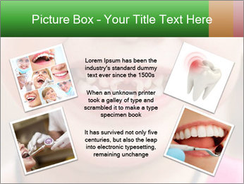 Kid patient open mouth showing caries teeth decay PowerPoint Template - Slide 24