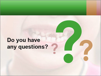 Kid patient open mouth showing caries teeth decay PowerPoint Template - Slide 96