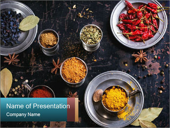 Set of spices PowerPoint Template - Slide 1