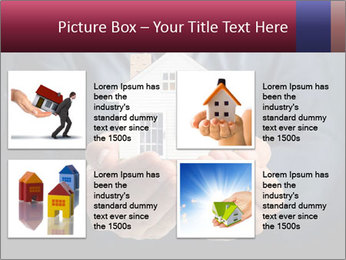 Holding house representing home PowerPoint Template - Slide 14