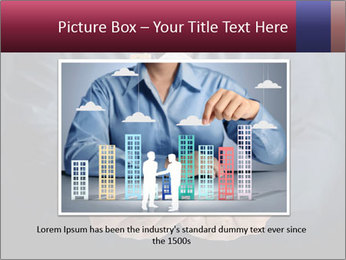 Holding house representing home PowerPoint Template - Slide 15