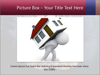 Holding house representing home PowerPoint Template - Slide 16