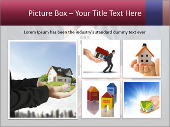 Holding house representing home PowerPoint Template - Slide 19