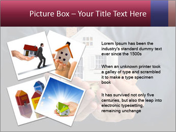 Holding house representing home PowerPoint Template - Slide 23