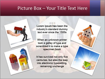 Holding house representing home PowerPoint Template - Slide 24
