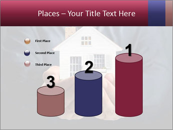 Holding house representing home PowerPoint Template - Slide 65