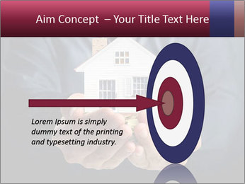 Holding house representing home PowerPoint Template - Slide 83