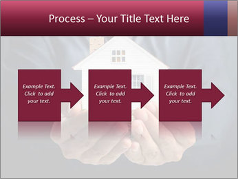 Holding house representing home PowerPoint Template - Slide 88