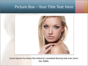 Smiling pretty woman with clean skin PowerPoint Templates - Slide 15