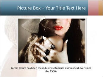 Smiling pretty woman with clean skin PowerPoint Templates - Slide 16