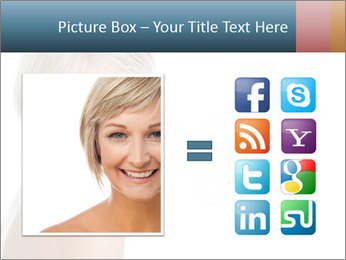Smiling pretty woman with clean skin PowerPoint Templates - Slide 21