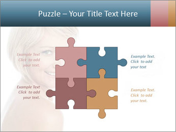 Smiling pretty woman with clean skin PowerPoint Templates - Slide 43