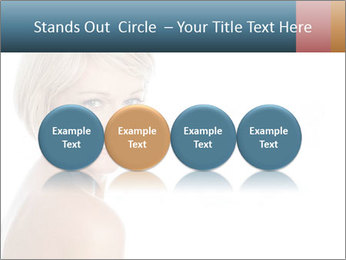 Smiling pretty woman with clean skin PowerPoint Templates - Slide 76