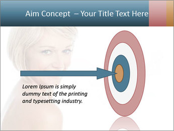 Smiling pretty woman with clean skin PowerPoint Templates - Slide 83