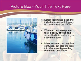 Group of friends on a boat selfie PowerPoint Template - Slide 13